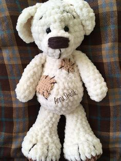 Ideas For Crochet Animals Amigurumi Dog Crochet Animal Amigurumi, Crochet Amigurumi Free Patterns, Crochet Animal Patterns, Crochet Bear, Stuffed Animal Patterns, Crochet Animals, Crochet Dolls, Amigurumi Tutorial, Amigurumi Toys