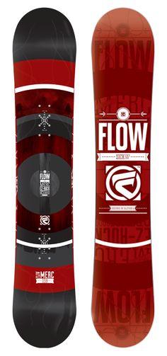 Merc Directional Rocker Snowboard by Flow Snowboards Mens Snowboarding Gear and Equipment