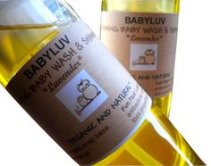 Organic foaming baby wash and shampoo by BodyLuv on Etsy, $9.00