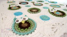 CUSTOM Owl Obsession Baby Afghan You Choose the by EnfysCreations,