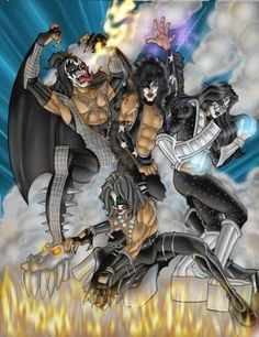 Rock N Roll Music, Rock And Roll, Kiss World, Kiss Art, Kiss Photo, Best Rock Bands, Band Wallpapers, Hot Band, Picture Albums