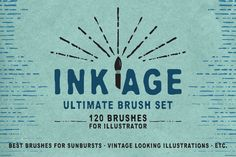 Check out Ink Age Brush Pack by Guerillacraft on Creative Market