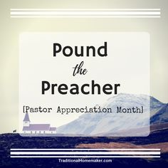 'Pound the Preacher' sounds a bit violent! It's merely a fun, creative way to honor your church leader during pastor appreciation month. Pastor Appreciation Month, Catholic Schools Week, Gifts For Pastors, Church Activities, Practical Jokes, Welcome To The Party, Marriage Advice, Homemaking, Encouragement