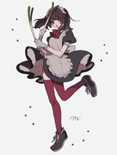Maid Outfit Anime, Anime Maid, Fantasy Character Design, Character Inspiration, Character Art, Anime Drawing Styles, Manga Drawing, Anime Poses, Art Poses