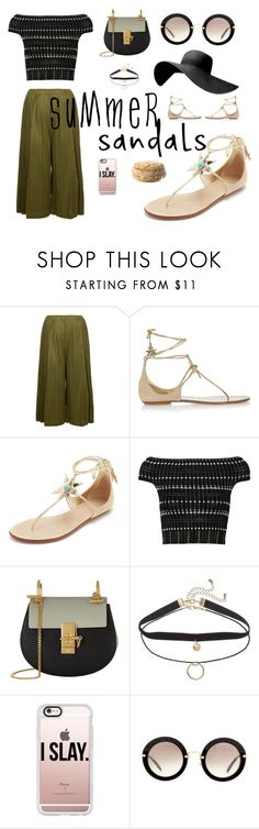 """Icecream sandwiches"" by liajasny on Polyvore featuring Pleats Please by Issey Miyake, Aquazzura, Alexander McQueen, Chloé, Casetify and Miu Miu"