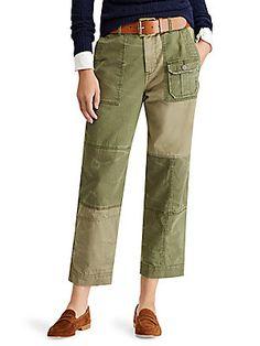 Polo Ralph Lauren Patchwork Straight-Leg Pants