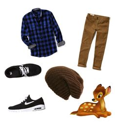 """""""Bambi"""" by christina2121 on Polyvore featuring NIKE, Hollister Co., Lands' End, men's fashion and menswear"""