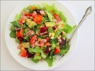Tuna, Veggie & Couscous Salad (makes 4 servings; total cost per serving: ~$0.90)