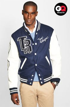 True Religion Varsity Letterman's Jacket #Nordstrom #GQSelects