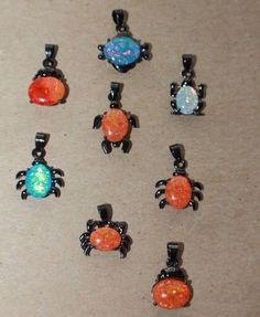 1 fire opal necklace pendant gems silver black gold filled jewelry delicate
