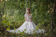 Graceful and understated- this floaty Chiffon gown is boho yet traditional with lace illusion bodice and cap sleeves Kate Wedding Dress, Wedding Gowns, Chiffon Gown, Bridal Collection, Bodice, Flower Girl Dresses, Couture, Boho, Elegant
