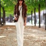 Meu Look: Branco & animal print