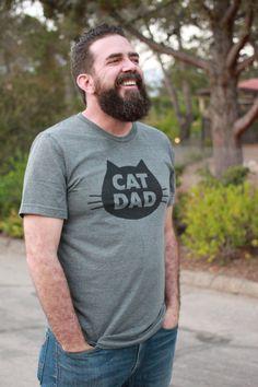 Cat T-Shirt Cat Dad, Unisex T-Shirt, Gray Heather Cat T-Shirt