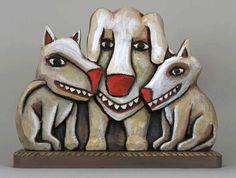 folk art dogs
