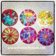 Dream catchers in the making by Michelle Reynolds.