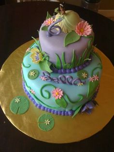 Princess and the Frog By Serafina17 on CakeCentral.com