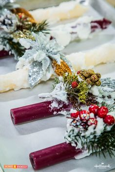 Add a special touch to your holiday decor with @cristinacooks' Christmas Candles!