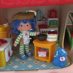 Chopping Block for Strawberry Shortcake Berry Happy Home Dollhouse by BrownEyedRose