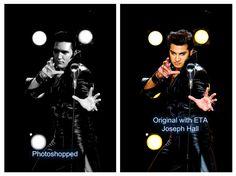 Obvious fake with Elvis' head photoshopped onto ETA Joseph Hall's body!