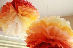 Little Moments: Ombre Tissue Paper Balls