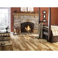 Shop Mullican Flooring Mullican 3-in W Prefinished Hickory Hardwood Flooring (Natural) at Lowes.com