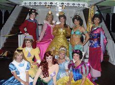 Disney Princesses, Alice, Jane, and Mary Poppins in Fantasmic at Disneyland Disney Nerd, Disney Parks, Walt Disney, Disneyland Princess, Vintage Disneyland, Hong Kong Disneyland, Disneyland Resort, Alice In Wonderland Pictures, Cute Dress Outfits