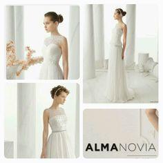 Vi fører Alma Novia brudekjoler fra og med i år. One Shoulder Wedding Dress, Wedding Dresses, Fashion, Bride Dresses, Moda, Bridal Gowns, Wedding Dressses, La Mode, Weding Dresses