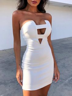 Shop Bodycon Dresses Solid Ladder Cut Out Sexy Tube Dress - Shop Bodycon Dresses Solid Ladder Cut Out Sexy Tube Dress Source by andreybojkov - Mode Outfits, Sexy Outfits, Dress Outfits, Fashion Dresses, Club Dresses, Short Dresses, Maxi Dresses, Sexy Homecoming Dresses, Prom Dress