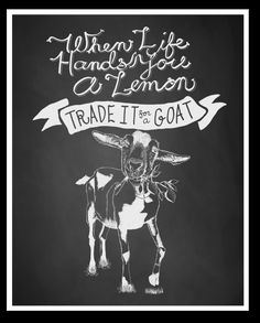 This is the Lemon Goat Art Print. #provisionsfarms says This is the logo for The Farmstead via Olyfarmstead.com Super awesome family creating and developing their dreams. Click the link and watch their kickstarter video and then go check out their website!