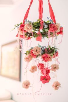 Shabby Chic Floral Mobile - what a whimsical touch to the nursery!