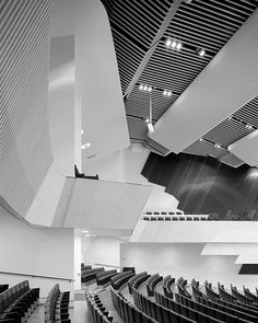 Finlandia Hall- Main performance auditorium photographed by Kim Zwarts