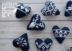 Ravelry: Knit Fair Isle Hearts pattern by Erin Black Knitting Patterns, Crochet Patterns, Fair Isle Pattern, Knit In The Round, Holidays 2017, Heart Patterns, One Color, Create Your Own, Knit Crochet
