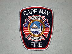 Cape May Fire Department Patch  #Setcom