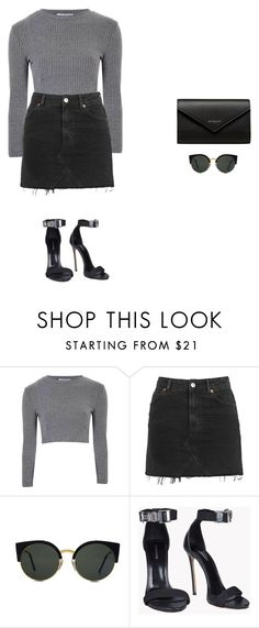 """""""crowd pleaser part 2"""" by xoxotiffvni on Polyvore featuring Glamorous, Topshop, RetroSuperFuture, Dsquared2 and Balenciaga"""