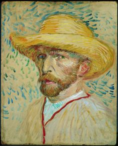 Painting Exhibition: Vincent van Gogh and Expressionism : Vincent van Gogh: Self-Portrait With a Straw Hat and Artist's Smock