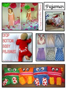 Pajama Sewing tutorials and Pajama Eaters