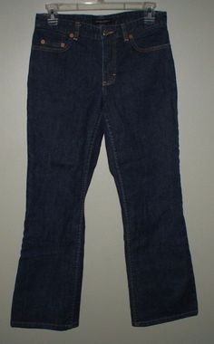 Banana Republic petite boot cut jeans womens size 4P #BananaRepublic #BootCut