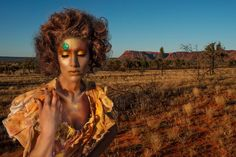 August - Outback Australia.  Art Direction: Nadine Langer & Paulina Deptula, Photography: Chris Davis, Make-up: Paul Merchant, Videography: Paul Bates, Styling: Joey Bevan.