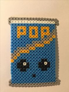 Shopkin, Soda Pops, perler beads