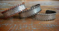 Whipstitch cuffs Cowboys, Cuff Bracelets, Cuffs, Jewelry Design, Fashion, Fashion Styles, Fashion Illustrations, Bangle Bracelet, Trendy Fashion