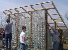 Plastic Bottle Greenhouse (made with 1000 pop bottles) a la Blue Rock Station Greenhouse Kitchen, Cheap Greenhouse, Greenhouse Effect, Backyard Greenhouse, Greenhouse Plans, Greenhouse Gases, Greenhouse Wedding, Recycled Bottles, Recycle Plastic Bottles
