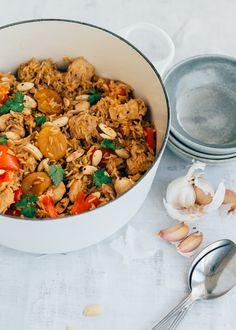 Kip pilav met abrikozen (eenpansgerecht) - Uit Pauline's keuken