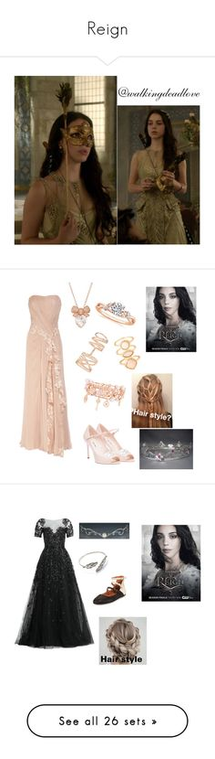 """Reign"" by walkingdeadlove ❤ liked on Polyvore featuring art, Miu Miu, Henri Bendel, Repossi, Monsoon, Kane, country, Gentle Souls, Zuhair Murad and Brunello Cucinelli"
