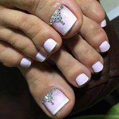 Wedding Toe Nail Art
