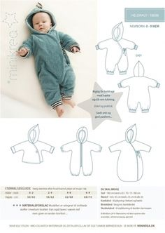 Baby Fashion - Sewing Pattern ❤ Baby Winter Overall Suit Minikrea - a designer . - - baby winter Baby Fashion – Sewing Pattern ❤ Baby Winter Overall Suit Minikrea – a designer … Sewing Patterns For Kids, Sewing Projects For Kids, Sewing For Kids, Baby Sewing, Baby Patterns, Pattern Sewing, Sewing Ideas, Baby Winter Overall, Baby Overall