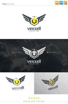 V Wings Logo - Letters Logo Templates Logo Desing, Game Logo Design, Best Logo Design, Logo Design Template, Graphic Design Typography, Branding Design, Logo Templates, V Wings, Wings Logo