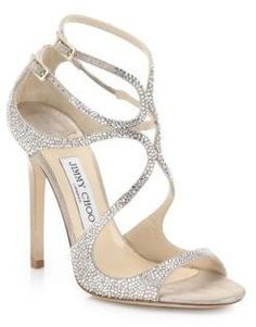 Jimmy Choo  Crystal Strappy Sandals