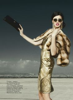 """Gorgeous Versace dress on beautiful Maria Moi Ostrov """"Charmed"""" Fashion Editorial"""