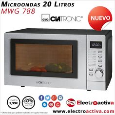 ¡¡Cocina y Calienta tu comida al instante!! Microondas con Grill CLATRONIC MWG 788 http://www.electroactiva.com/clatronic-microondas-20-litros-grill-c-mwg788.html #Elmejorprecio #Microondas #Electrodomésticos #PymesUnidas