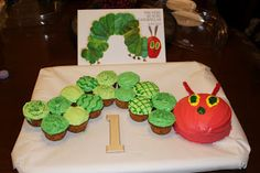 """How to make a """"Very Hungry Caterpillar"""" Birthday cake."""
